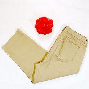 NYDJ Kaki Tan Crop Jeans Size 12 Like New